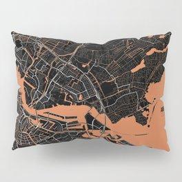 Amsterdam Minimalist Map Pillow Sham