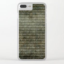 Binary Code with grungy textures Clear iPhone Case