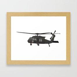 Black Hawk UH-60 Military Helicopter Framed Art Print