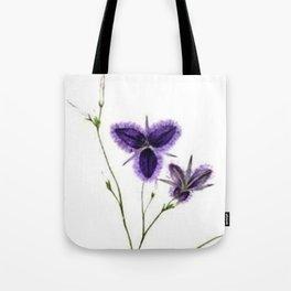 Vintage Wildflower Purple Tote Bag