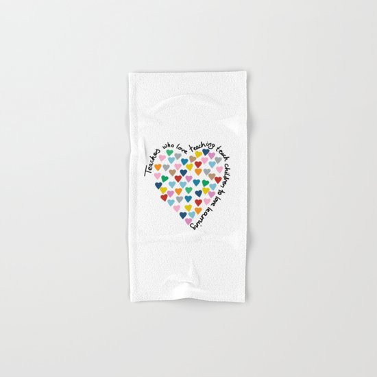 Hearts Heart Teacher Hand & Bath Towel