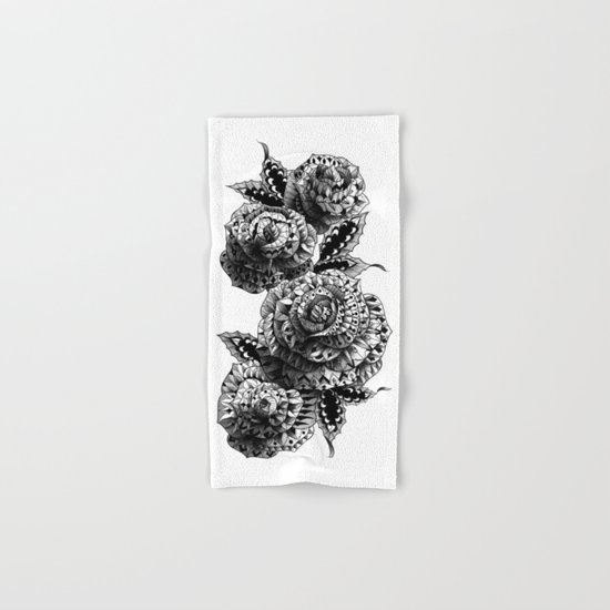 Four Roses Hand & Bath Towel