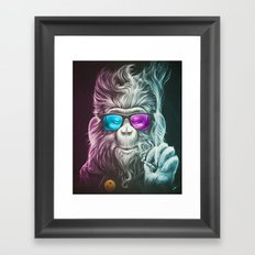 Smoky Framed Art Print