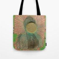 big bang Tote Bags featuring Big Bang by Naomi Vona