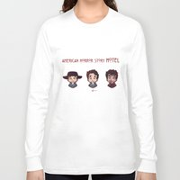 ahs Long Sleeve T-shirts featuring AHS Hotel: Justin by Sunshunes