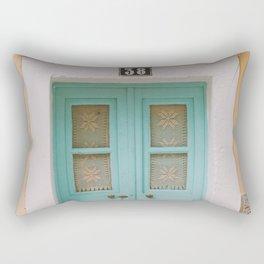 Mint Door Rectangular Pillow