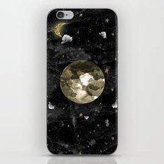 moon on black iPhone & iPod Skin