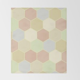 Honeycomb pastel Throw Blanket