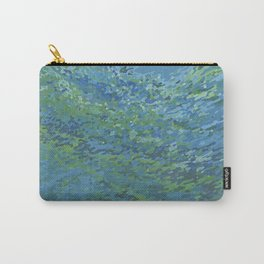 Bright Blue Lagoon Carry-All Pouch