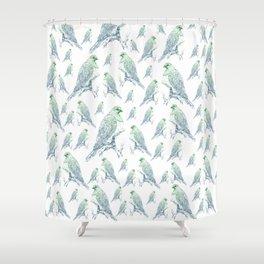 Mr Kereru, New Zealand wood pigeon Shower Curtain