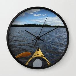 Into the Wild - Kayak Life Wall Clock