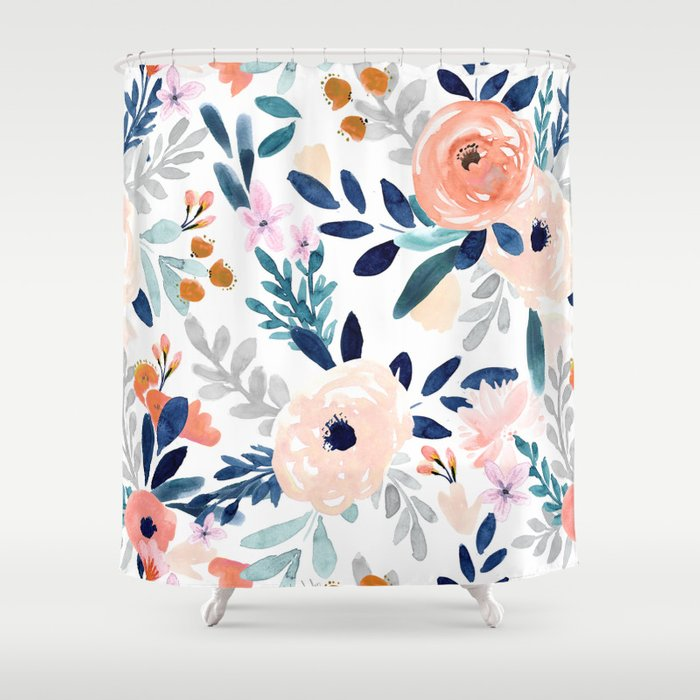 Jolene Floral Shower Curtain