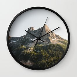 North Cascades Sunset Wall Clock