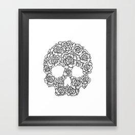 Skull of Roses Framed Art Print