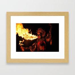 Fire Breathing Framed Art Print