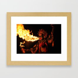Fire Breathing Framed Art Print