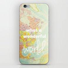 What a Wonderful World iPhone & iPod Skin