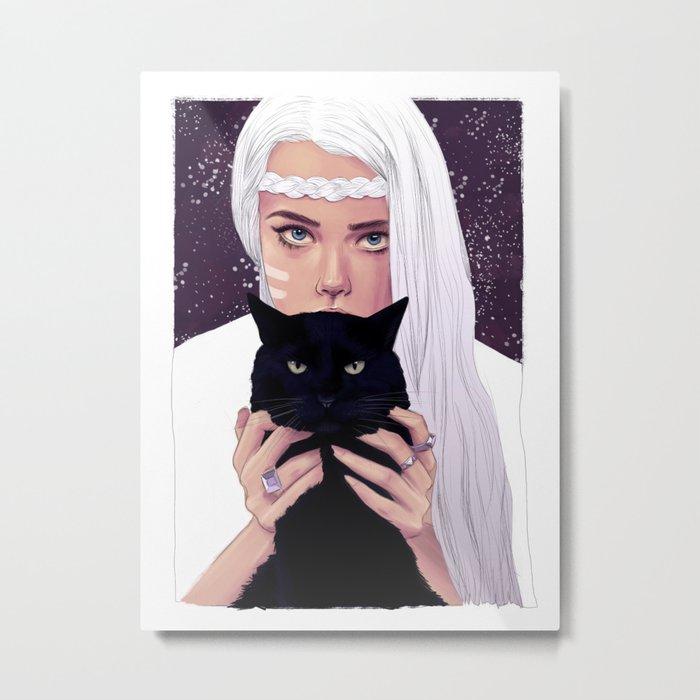 She had Stars in her Eyes Metal Print