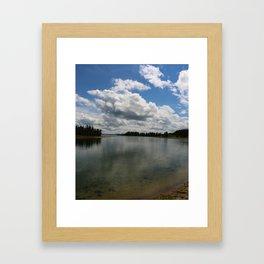 Yellowstone Lake View Framed Art Print