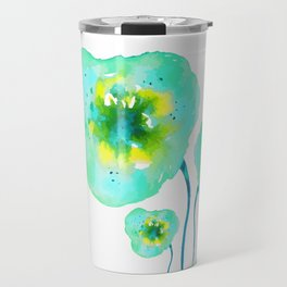Blue dream. Floral theme. Travel Mug