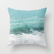 Curled Wave Throw Pillow