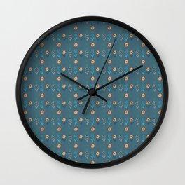Boho chic Flowers Wall Clock