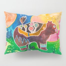Family bear - animal - by LiliFlore Pillow Sham