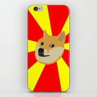 doge iPhone & iPod Skins featuring Doge by Subtle Tee