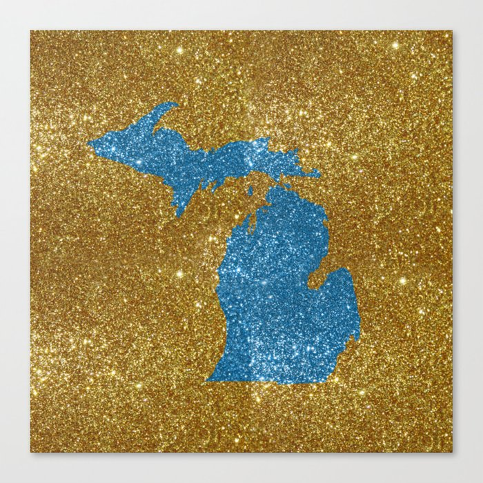Michigan glitter Canvas Print