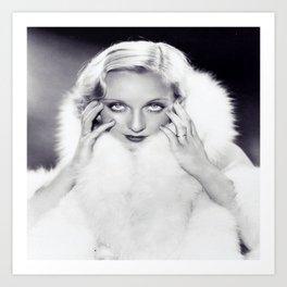 Classic Carole Lombard Art Print