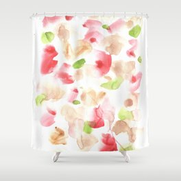 170722 Colour Loving 1|Modern Watercolor Art | Abstract Watercolors Shower Curtain