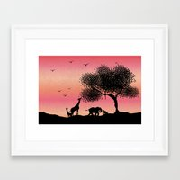 safari Framed Art Prints featuring Safari  by Katy Kaydash
