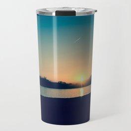 Blue Sunset Travel Mug