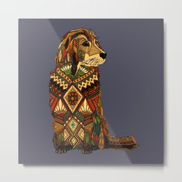 Golden Retriever dusk Metal Print