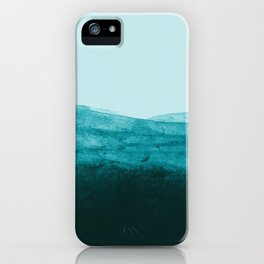 Aqua Watercolor Tide iPhone Case