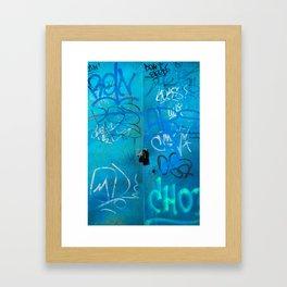 Urban Blue Style Street Graffiti Framed Art Print