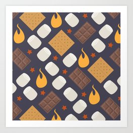 Smores on the Campfire Art Print