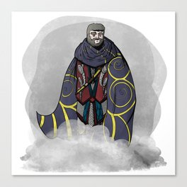 Viking King with Cloak Canvas Print