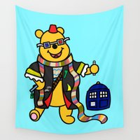 doctor Wall Tapestries featuring Doctor Who - Doctor Pooh by Scurpix Art
