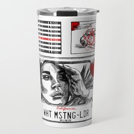 White Mustang Travel Mug