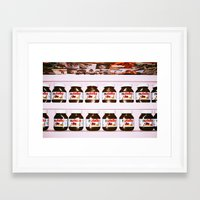 nutella Framed Art Prints featuring Nutella by neil aline