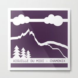 Aiguille du Midi Metal Print