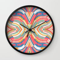 tape Wall Clocks featuring Tape Image by Danny Ivan
