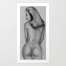 from behind Art Print