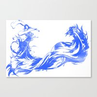 final fantasy Canvas Prints featuring FINAL FANTASY X  by DrakenStuff+