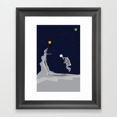 NBA Space  Framed Art Print