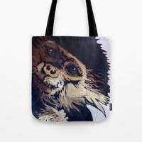 monkey Tote Bags featuring MONKEY by SAMHAIN