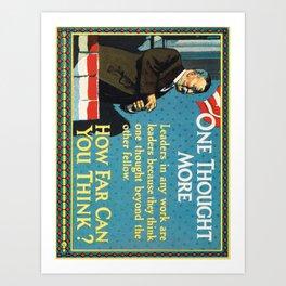 retro c.j. howard motivational cards. 1925  Art Print