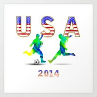 usa Art Prints featuring USA by Robin Curtiss