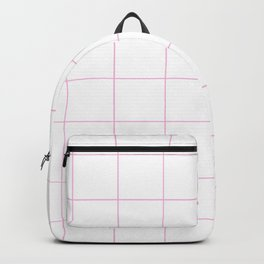 Graph Paper (Pink & White Pattern) Backpack